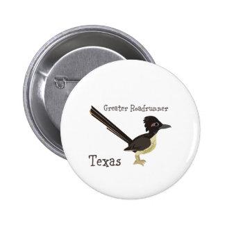 Texas Greater Roadrunner Button
