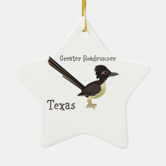 Texas Greater Roadrunner Ceramic Ornament