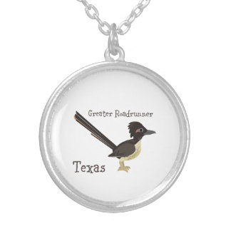 Texas Greater Roadrunner Silver Plated Necklace