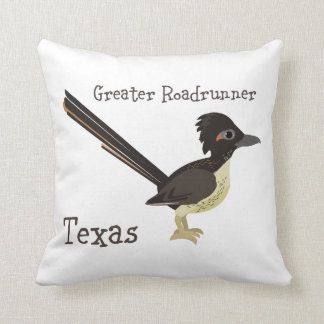 Texas Greater Roadrunner Throw Pillow