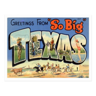 Texas Greetings From US States Postcard