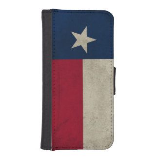 Texas Grunge- Lone Star Flag iPhone 5 Wallet Case