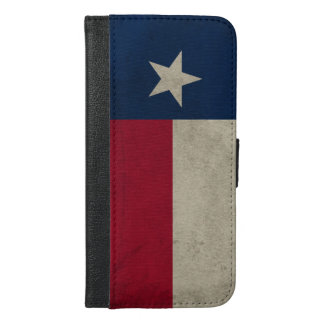 Texas Grunge- Lone Star Flag iPhone 6/6s Plus Wallet Case