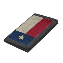 Texas Grunge- Lone Star Flag Tri-fold Wallet