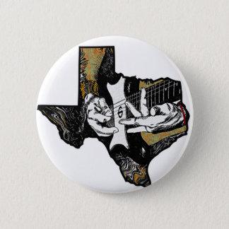 Texas Guitar Pinback Button