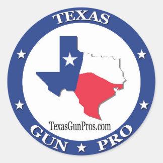 Texas Gun Pro Classic Round Sticker