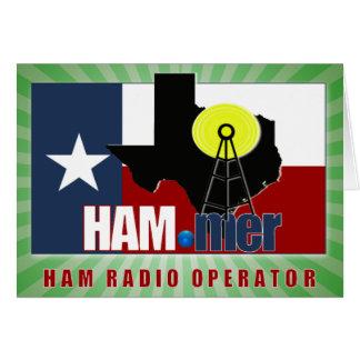 TEXAS HAM-MER AMATEUR RADIO OPERATOR CARD