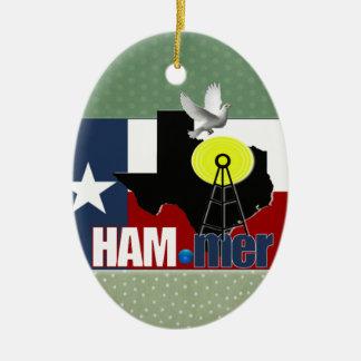 TEXAS HAM-MER AMATEUR RADIO OPERATOR CHRISTMAS ORNAMENT
