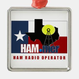 TEXAS HAM-MER AMATEUR RADIO OPERATOR CHRISTMAS TREE ORNAMENT