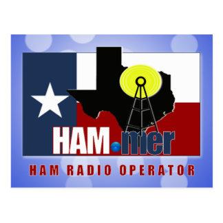 TEXAS HAM-MER AMATEUR RADIO OPERATOR POSTCARD