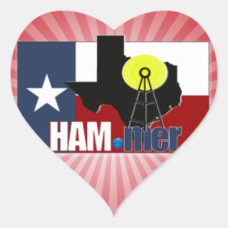 TEXAS HAM-MER AMATEUR RADIO OPERATOR HEART STICKER