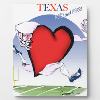 texas head heart, tony fernandes plaque