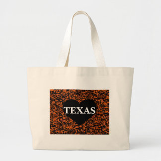 Texas Heart Canvas Bag
