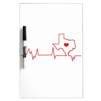 Texas Heart beat Dry Erase Board