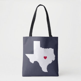 Texas Heart Custom City Tote Bag
