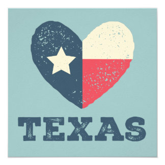 Texas Heart Flag Card w/TEXAS
