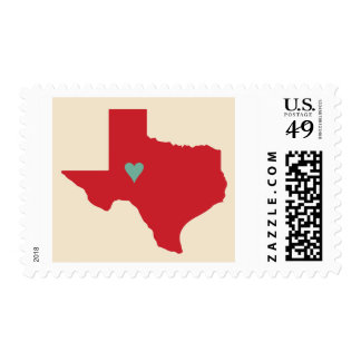Texas Heart Postage Stamp