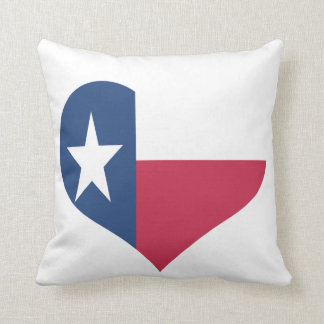 Texas Heart Shaped Flag Pillows