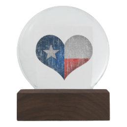 Texas Heart Snow Globe