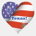 Texas Heart Stickers