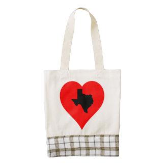 Texas Heart Zazzle HEART Tote Bag