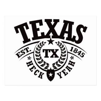 Texas, Heck Yeah, Est. 1845 Postcard