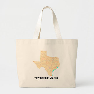 Texas Highways Map Cloth Bag