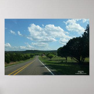 Texas Hill Country. Fredricksburg, Texas Poster