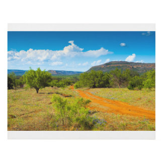 Texas Hill Country Red Dirt Road Panel Wall Art
