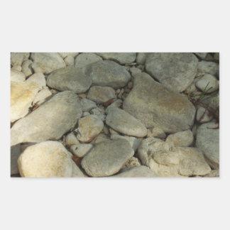 Texas Hill Country River Rocks Rectangular Sticker