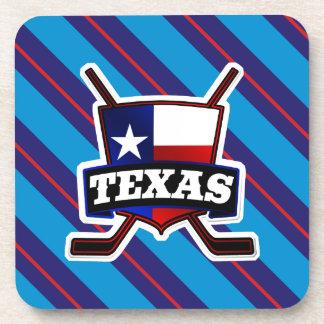 Texas Hockey Flag Logo Coasters Set