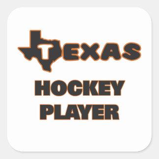 Texas Hockey Player Square Sticker