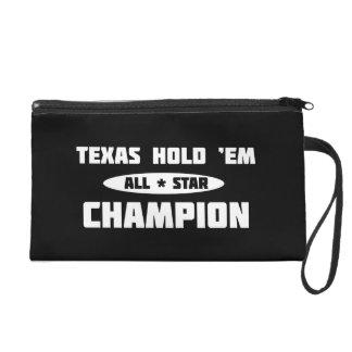 Texas Hold 'Em Champion Wristlet Clutches