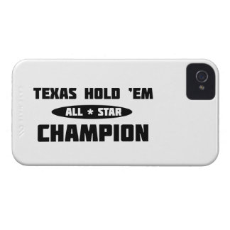 Texas Hold 'Em Champion iPhone 4 Cases