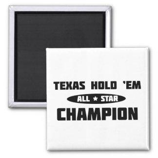 Texas Hold 'Em Champion Magnets