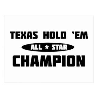 Texas Hold 'Em Champion Postcard