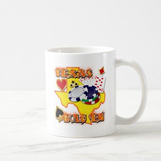 TEXAS HOLD 'EM CLASSIC WHITE COFFEE MUG
