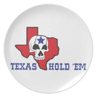 Texas Hold Em Dinner Plate