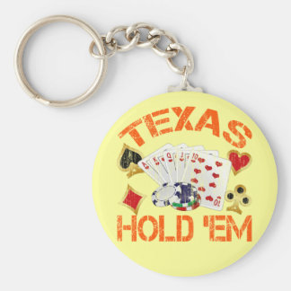 TEXAS HOLD 'EM - DISTRESSED KEY CHAIN