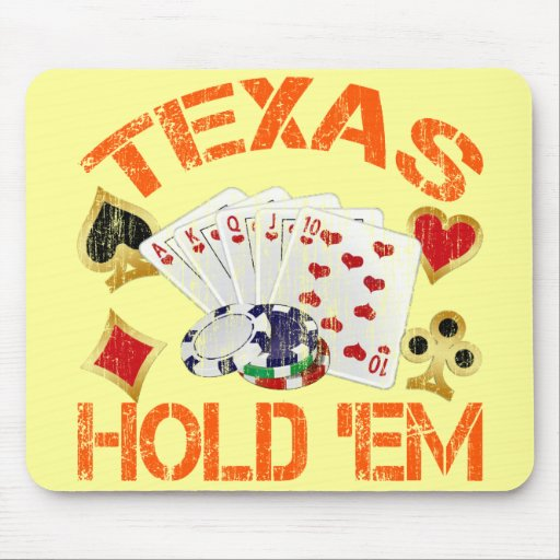 TEXAS HOLD 'EM - DISTRESSED MOUSE PADS