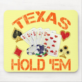 TEXAS HOLD EM - DISTRESSED MOUSE PADS