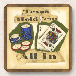 Texas Hold 'Em Hand with King and Ace Coaster