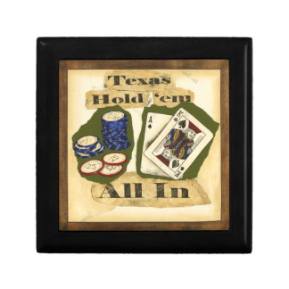 Texas Hold 'Em Hand with King and Ace Jewelry Box