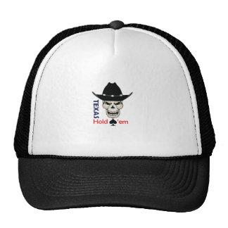 TEXAS HOLD EM MESH HATS
