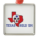 Texas Hold Em Metal Ornament