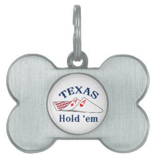 Texas Hold Em Pet Tag