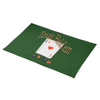 Texas Hold'em Poker Placemat