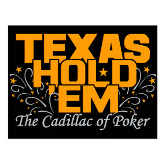Texas Hold 'Em postcard