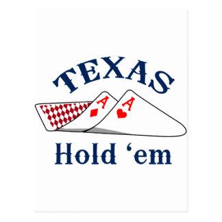Texas Hold Em Postcard