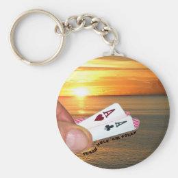 Texas Hold 'em Sunset Keychain